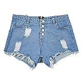 Mymyguoe Pantalones Vaqueros Cortos Sexis para Mujer, Mujeres Sexy Baja Subida Mini Pantalones Cortos Denim Tanga Pantalones Ajustados Y2K con Bolsillos