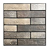 TheJD Self Stick Backsplash Tile Bathroom and Kitchen Wall   Peel and Stick, Stick-On Backsplash Sticker Tile - Anti-Mold Decal –12' x 12' (6-Sheet Pack) (504)