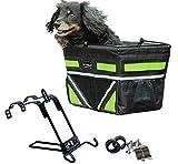 Pet-Pilot ORIGINAL Dog Bike Basket Carrier   5 different color inserts included