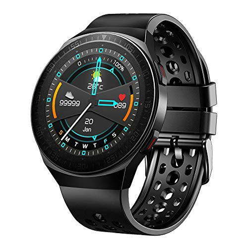Smart Sport Watch Health & Fitness Tracker with Call Answer 8GB Storage Music Player Watch, Heart Rate Sleep Monitor Step Counter Cardio Wristwatch for Men Women (Black)