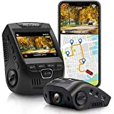 Rexing V1GW-4K Ultra HD Car Dash Cam w/ Built-in GPS Logger, 2.4' LCD Screen,Wi-Fi,170° Wide Angle Dashboard Camera Recorder with G-Sensor, WDR, Loop Recording, Supercapacitor, Mobile App, up to 256GB