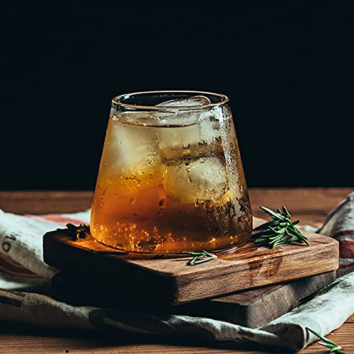 Vidrios de whisky Crystal Tumblers de bebidas cortas, hogar Whisky Jugo de vidrio de vidrio Beber Barra de vino Copa de vino Juego de vino de 6