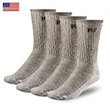 PEOPLE SOCKS 4pairs Brown Large Unisex Merino Wool Socks