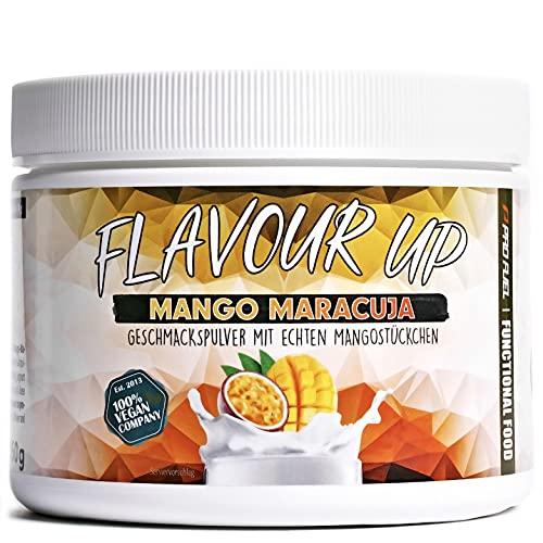 FLAVOUR UP | Geschmackspulver mit Mango Maracuja Flavour | nur 10 kcal pro Portion | Leckerer Geschmack und Süße | Für Lebensmittel und Getränke | 250g Flavour Powder | Made in Germany | ProFuel