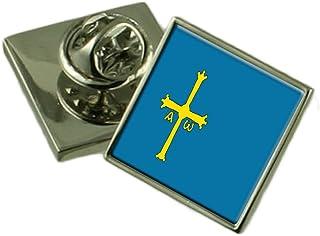 Select Gifts Asturien Flagge Anstecknadel Abzeichen 18mm Wählen Sie Geschenk Tasche