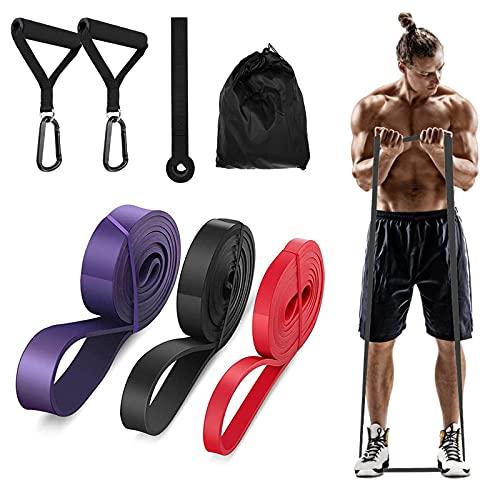 YipGrace Resistance Bands Fitnessbänder Premium Widerstandsbänder Gymnastikband Pull Up Bänder Elastisches Band für Powerlifting Fitness (Rot Schwarz Lila)