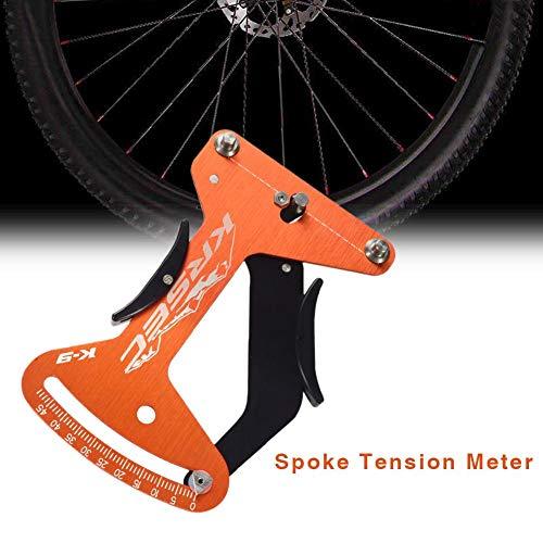 Generp Fahrrad-Speichenspannung, Messgerät, Aluminiumlegierung, 6061-T6 Radspannungsmesser, Messgerät, Orange