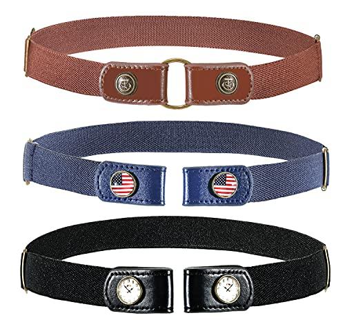 Buckle Free Belt for Boy Girl Elastic Belt for Kids Toddler Belt, No Buckle Stretch Adjustable Belts for Girls Boys Back to School Supplies
