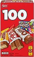 NESTLÉ Mini Halloween Assorted Chocolate & Candy - KITKAT, Coffee Crisp, AERO, Smarties - 1.02 kg (Pack of 100 Mini Bars)
