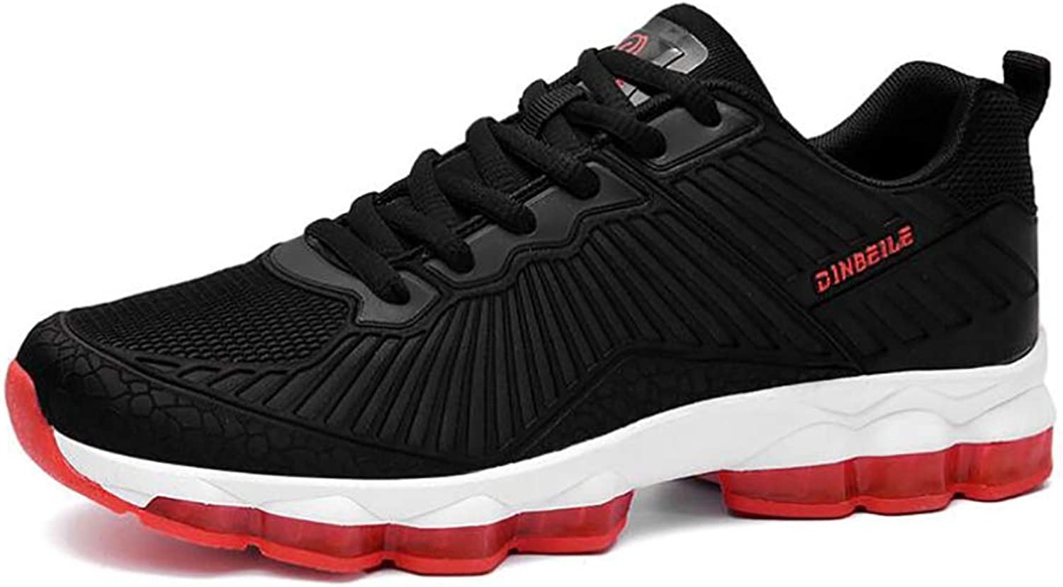 Men's shoes Spring Fall Mesh Sneakers Fitness Sports shoes Non Slip Damping Men shoes Running shoes Black Red   Green