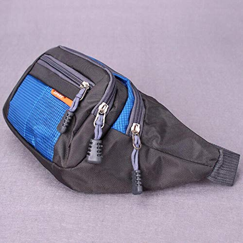 Zent Universal Fanny Pack Sports Waist Bag Large Capacity Waterproof Multi-Function Travel Outdoor Belt Bag, Blue