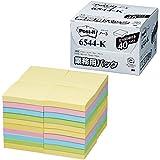 ポストイット ノート 100%再生紙シリーズ 7575mm 業務用パック カラー4色 1箱(40冊)