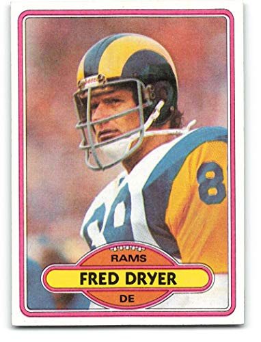 1980 Topps #202 Fred Dryer Los Angeles Rams NFL Football Card NM-MT