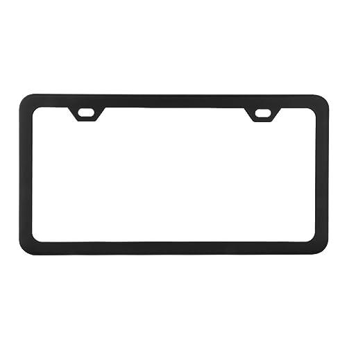 Plain Stainless Steel Heavy Metal Mirror Chrome License Plate-Fits TOYOTA HONDA
