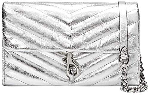 Rebecca Minkoff Edie Wallet On Chain, SILVER