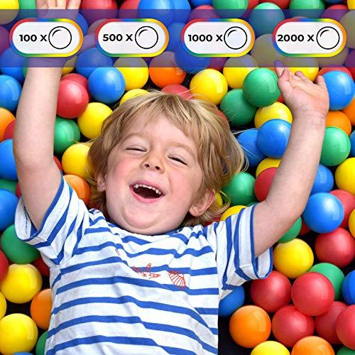 Infantastic Babybälle für Bällebad - Setwahl: von 100 bis 2000 Stück, Ø 5.5cm, BPA frei, Farbmischung aus 5 Farben - Bälle, Kinderbälle, Plastikbälle, Spielbälle (300 Stück)