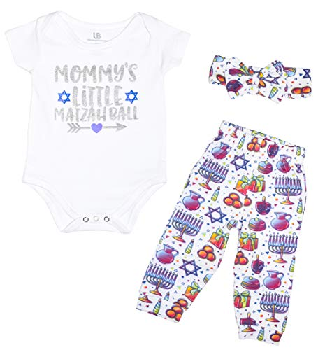 Unique Baby Girls Moms Matzah Ball Hannukah Onesie Outfit (NB, Moms)