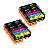 JIMIGO 26 XL 26XL Cartouches d'encre Remplacement Pour Epson 26 Encre Compatible Avec...
