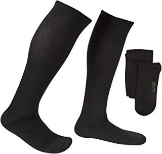 EvoNation Men's Coolmax USA Made Graduated Compression Socks 15-20 mmHg Moderate Pressure Medical Quality Support Stockings - Best Comfort Fit, Moisture Wicking, Circulation, Travel (Large, Black)