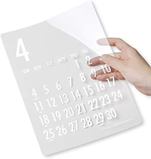 mon・o・tone 【限定商品】透明カレンダー(白文字)(2021年4月~2022年3月) 《ネコポス発送可》