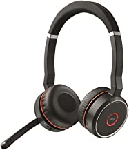 Jabra Evolve 75 UC Wireless Headset, Stereo – Includes Link 370 USB Adapter –..