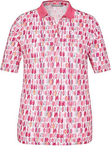 Rabe Damen Poloshirt mit Allover-Print und einfarbigem Kragen