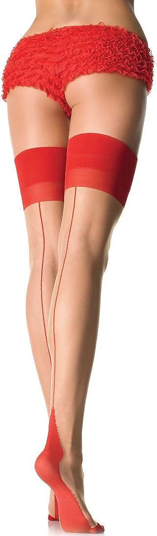 Leg Avenue Colorado Springs Mall 1027 Women's Cuban Thigh Backseam Stockings Heel Max 46% OFF High
