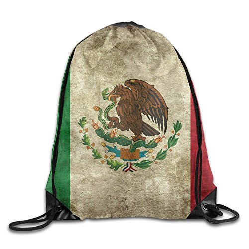 Etryrt Turnbeutel/Sportbeutel, Vintage Mexico Flag Portable Sack Bag, Drawstring Backpack, Sport Bag, Drawstring Bag for Men Women, Sport, Travel, Home, Gym, Outdoor, Activity (16.9x14.2 Inch)