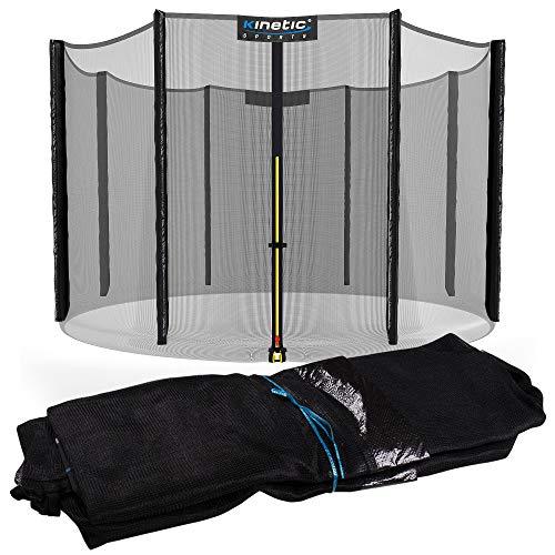 Kinetic Sports Sicherheitsnetz 305 cm, 8 Netzpfosten, außenliegend
