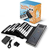 Roll Up Piano Folding Portable Keyboard | 61Keys | Music Gifts for Women Men Girl Boys Kids | Educational Toys Gift Set | Digital Beginner Piano