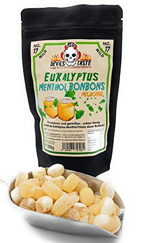 Eukalyptus Menthol Bonbons mit Honig - mild - 200g - mit Zip Beutel