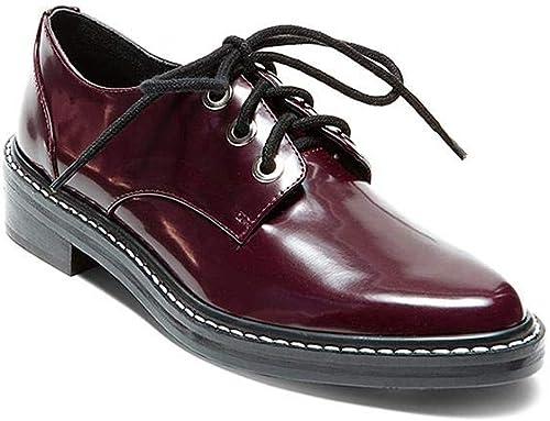 Steve Madden Chaussures de Ville à Lacets pour Femme Bordeaux