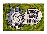 ERIK - Felpudo entrada casa Wubba Lubba, Rick & Morty (40 x 60 cm)