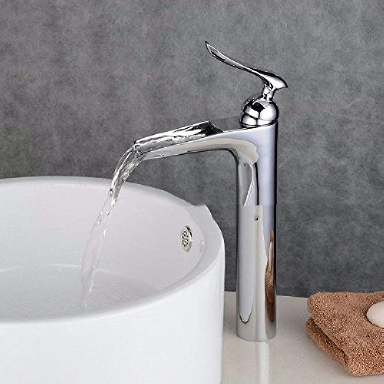 AQMMi Waschtischarmatur Wasserhahn Waschbecken Messing Wasserfall Schwarzes l Eingerieben Bronze Warmes Und Kaltes Wasser Mit Einem Hebel Einlochmontage Armatur Badarmatur