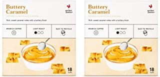 Archer Farms Coffee K Cups Buttery Caramel - Pack of 2 Boxes - 18 K Cups per Box (Buttery Caramel, 2 Boxes, 36 K Cups Total)