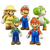 Super Mario Toys – Mario Bros Action Figures Toy Set of 5 Pcs 4'' Mario Luigi Yoshi Garage Kit Decorations Toy Gifts for Kids