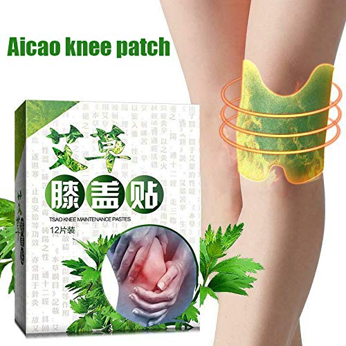 Hiqusc 12 Stks knie Moxa Hot Moxibustion Pleister Been Warming Meridians Patches