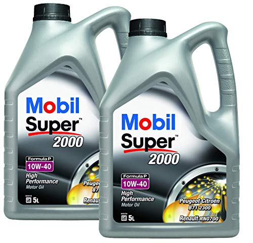 Aceite Motor Semi-sintético - Mobil Super 2000 Formula P 10W-40, Pack 10 litros