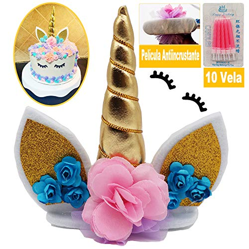 WELL BUY Decoración para Tarta de Unicornio Decoración Pasteles Unicornio, Decoración...