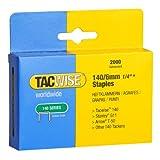 Tacwise 0345 Grapas galvanizadas de tipo 140/6 mm 6 mm Set de 2000 Piezas