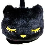 ネコ耳あて プーちゃんファーイヤーマフラー 黒猫 (P127048)