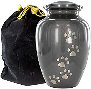 Always Faithful Large Gray Pet Urns for Dogs Ashes and Cats Too - Find Peace and Comfort with This Quality Dog Or Cat Pet ...