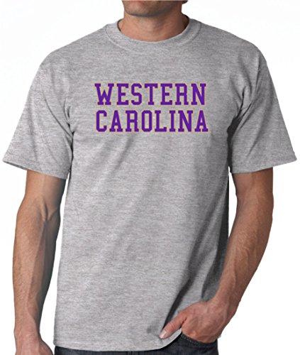 J2 Sport Western Carolina Catamounts NCAA Block Unisex Grey T-Shirt