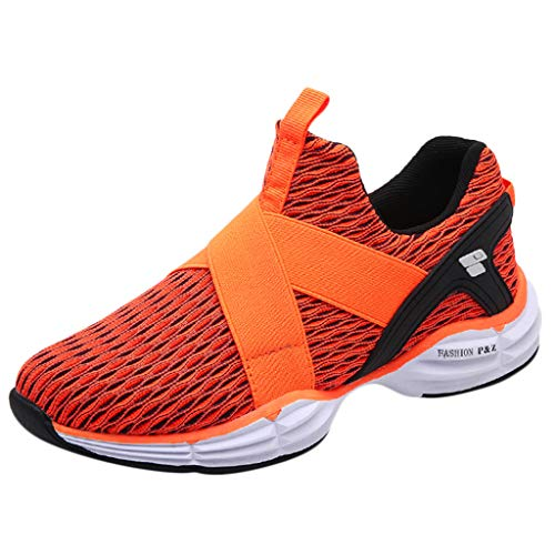 Why Should You Buy Kauneus Mens Womens Breathable Lightweight Running Shoes Unisex Stretchy NO Strap...