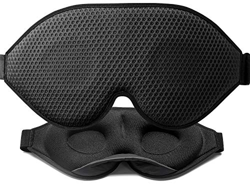 Unimi Sleep Mask 3D Contoured Cup, Sleep Eye Mask for Women Men, Soft Lycra Material Eye Mask for...