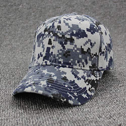 Casquette de baseball militaire camouflage pour homme Casquette tactique Camouflage Casquette Snapback Chapeau pour homme Bone Masculino Dad Hat Trucker Desert, ShumaBlue