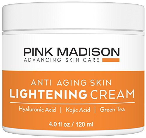 Pink Madison Radiance Cream. Anti Aging Skin Radiance Cream - Hyaluronic Acid, Kojic Acid, Green Tea. Best Night Day Moisturizing Cream. 4 Oz