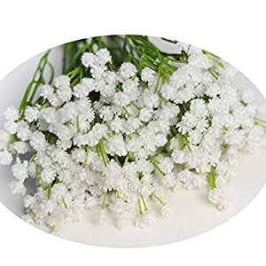 Silk Flower Arrangements 40Cm Real Touch Artificial Baby Breath Wreath Flower PU Decor for Wedding Home Table Party Fake Flowers 3 Colors White