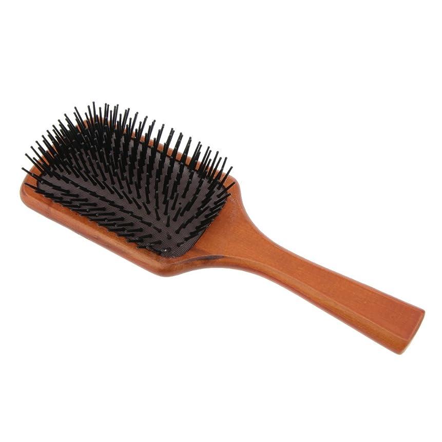 情報鉛筆染色Homyl 木製櫛 ヘアコーム ヘアブラシ 頭皮マッサージ 帯電防止