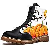 Bennigiry Joyeux jour d'action de grâce, feuilles d'automne, bottes d'hiver, chaussures classiques en toile de canne haute pour femme - Multicolore - multicolore, 43 EU EU